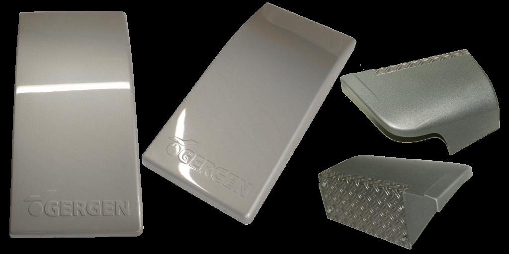 Formteile mit Silbermetallic-Oberfläche