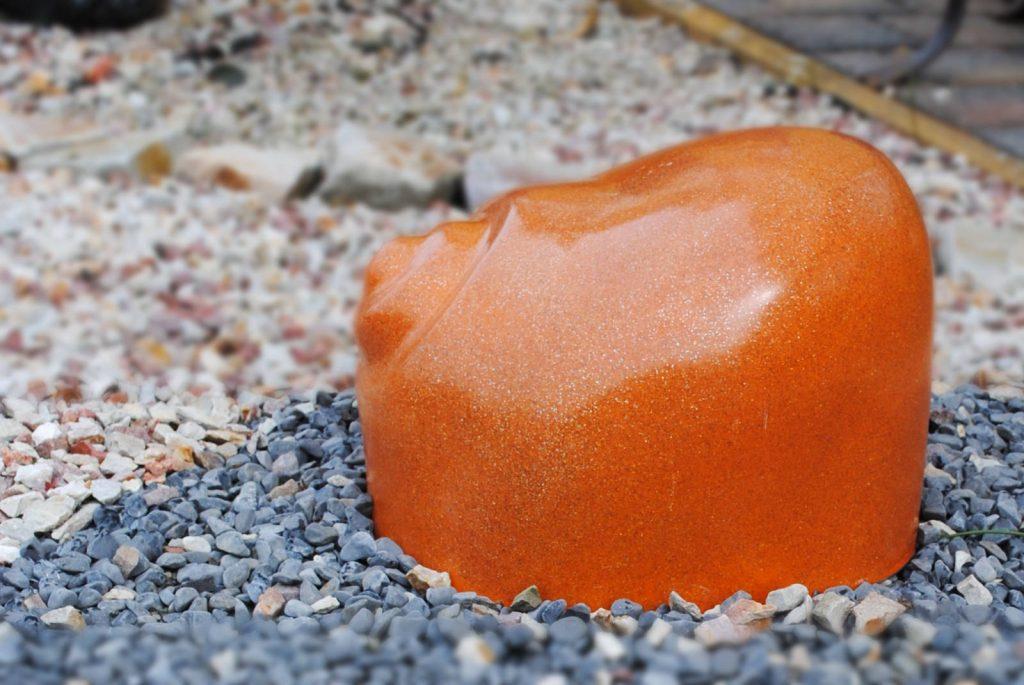 Leuchtschnecke Orange-Messing