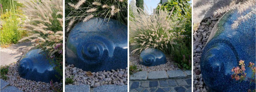 Leuchtschnecke in Blau Saphir